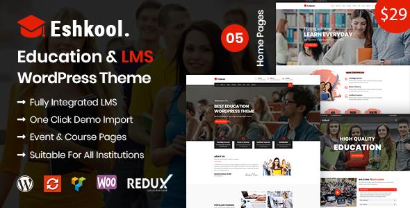 Eshkool - Bildung & LMS WordPress Vorlage