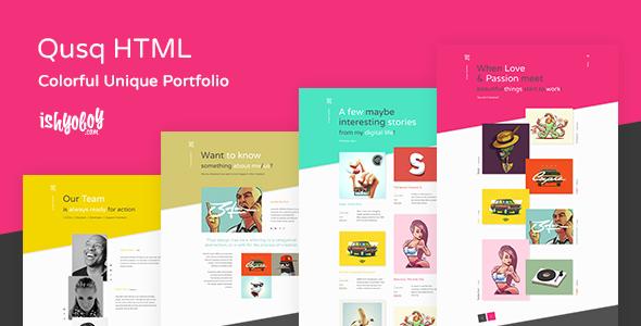 Qusq HTML - buntes einzigartiges Portfolio