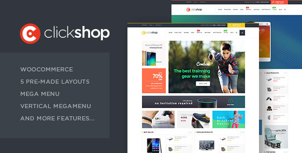ClickShop - WooCommerce WordPress Vorlage