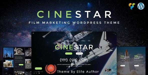 CINESTAR | Responsives WordPress Vorlage des Film-Marketings