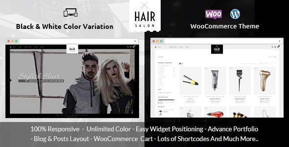 Friseur - WooCommerce Responsive Vorlage