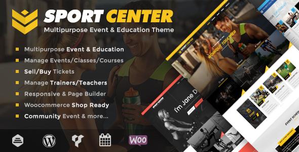 Sportzentrum - Mehrzweck-Events & Bildung WordPress Layout