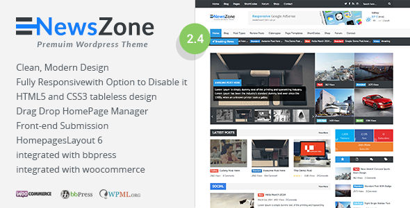 NewsZone - Responsive & Retina WordPress Magazin