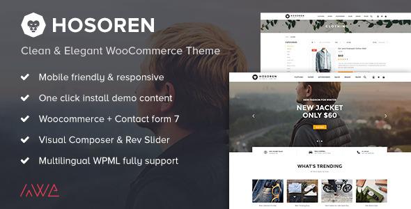 Hosoren - Sauber und elegant WooCommerce Vorlage