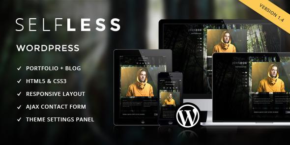 Selbstlos - Eine Seite WordPress VCard Layout