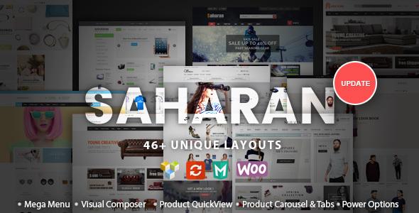 SAHARAN - Responsives WordPress Template
