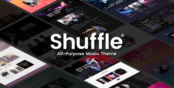 shuffle allzweckmusik mit genre spezifischen skins und homepages agentur zweigelb. Black Bedroom Furniture Sets. Home Design Ideas
