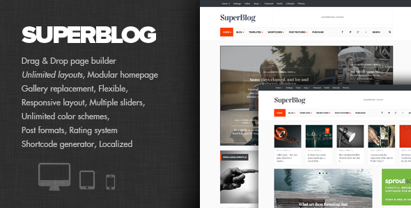 SuperBlog - Leistungsstarkes Blog & Magazin Layout