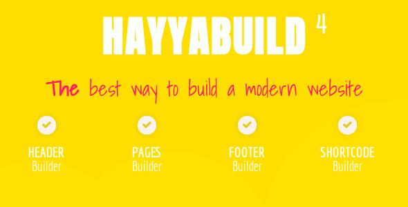 HayyaBuild - WordPress Builder