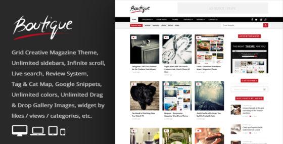 Boutique Grid = Creative Magazin WordPress Layout