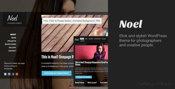 Noel - Responsives OnePage WordPress Vorlage
