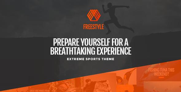 Freestyle - Ein WordPress Vorlage für Extremsportarten