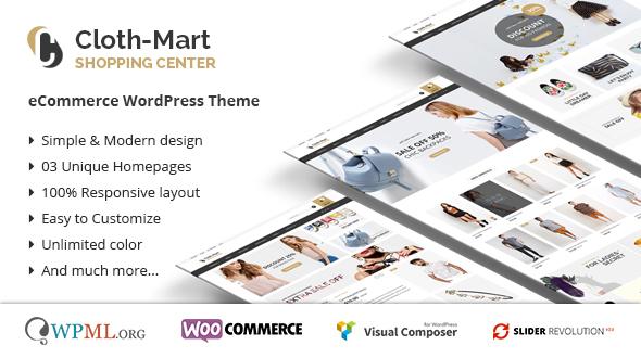 Cloth-Mart Einkaufszentrum Wordpress Vorlage
