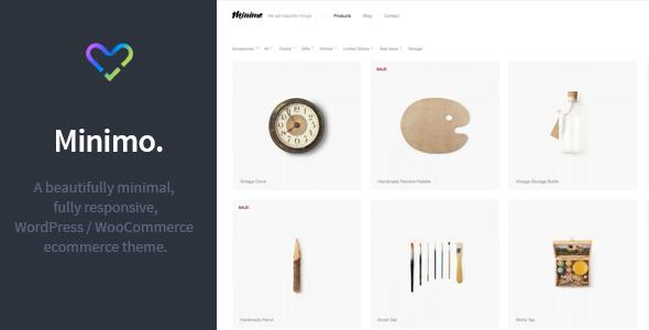 Minimo - Minimal WordPress WooCommerce Template