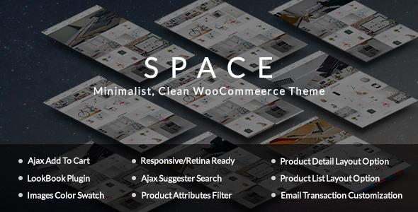 Raum - minimalistisch, sauber WooCommerce Vorlage