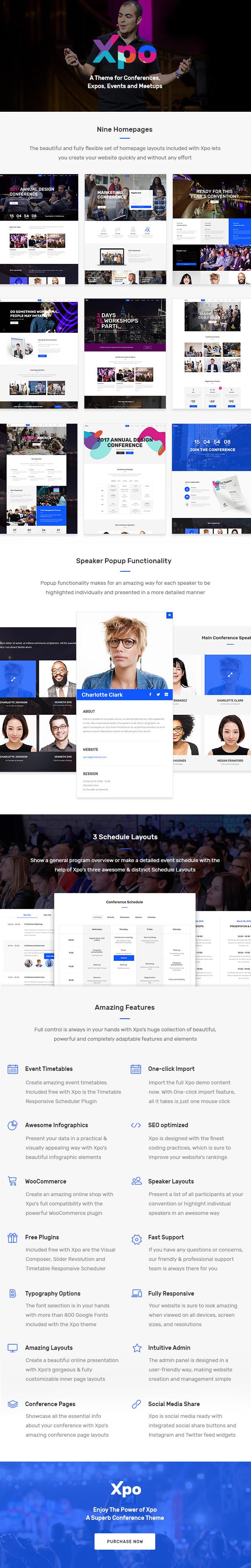 Xpo - Ein Thema für Konferenzen, Messen, Events und Meetups