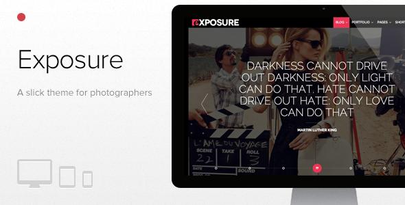Belichtung, Fullscreen Responsive Photography Vorlage