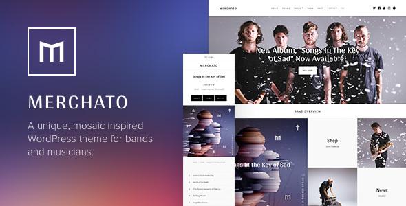 Merchetto - Musik und Band eCommerce WordPress Vorlage