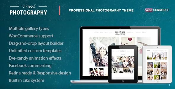 Stativ - Professionelles WordPress-Fotografie-Thema