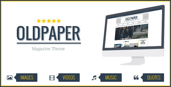 OldPaper - Ultimatives Magazin & Blog Layout