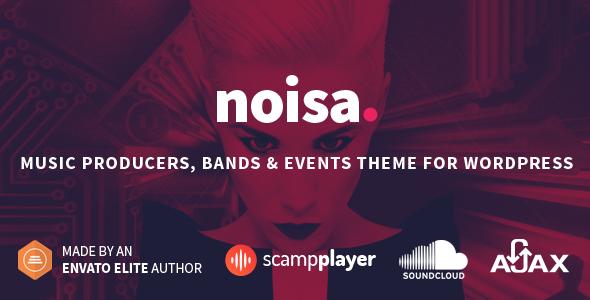Noisa - Musik Produzenten, Bands & Events Template für WordPress