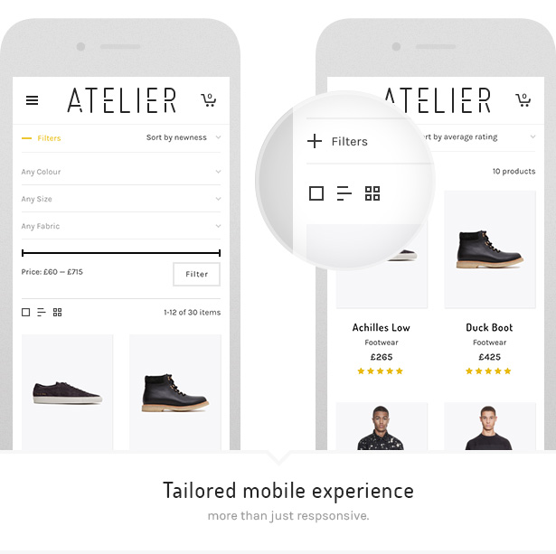 Atelier - Kreatives Mehrzweck-E-Commerce-Template