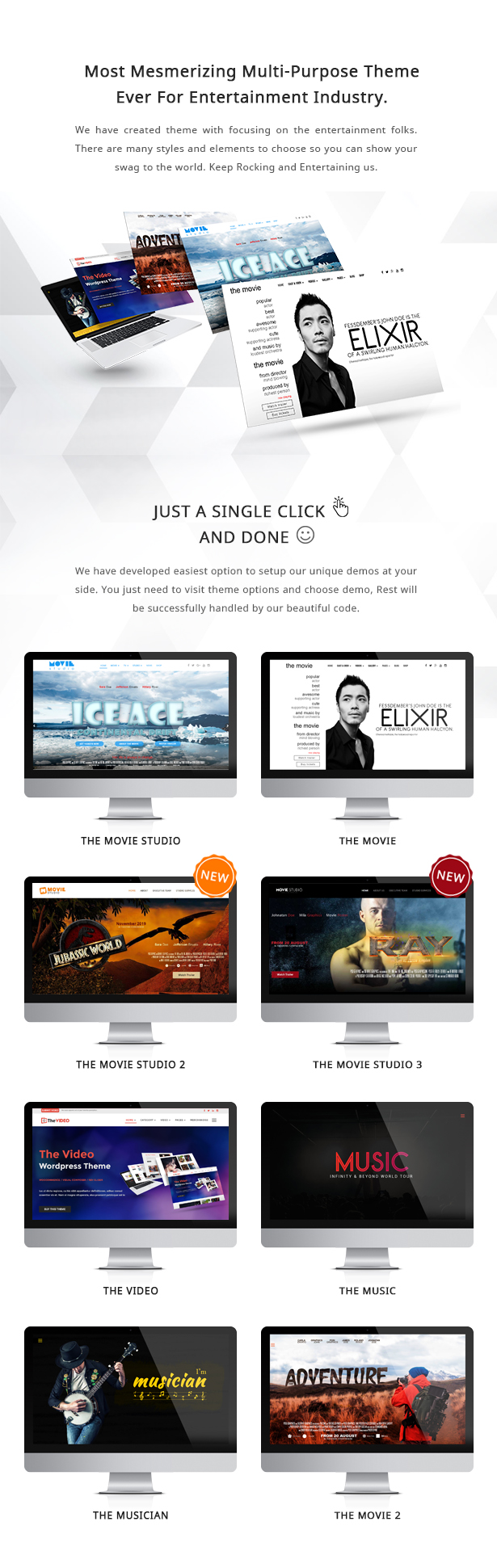 DIE LEIDENSCHAFT - Multipurpose Film Video & Musik WP Template