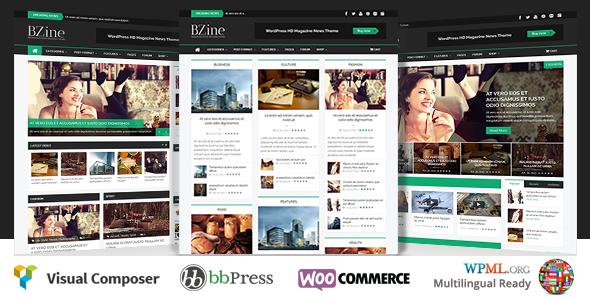 Bzine - WordPress Premium HD Magazin