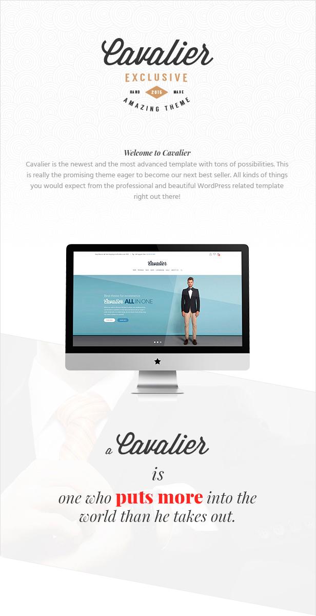 Cavalier - Wir verkaufen die Trends. Woocommerce-Thema