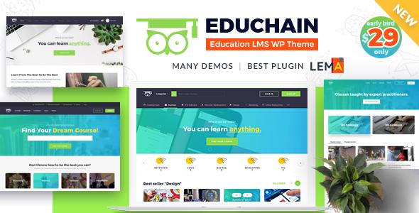 EduChain - Bildung LMS WordPress Theme