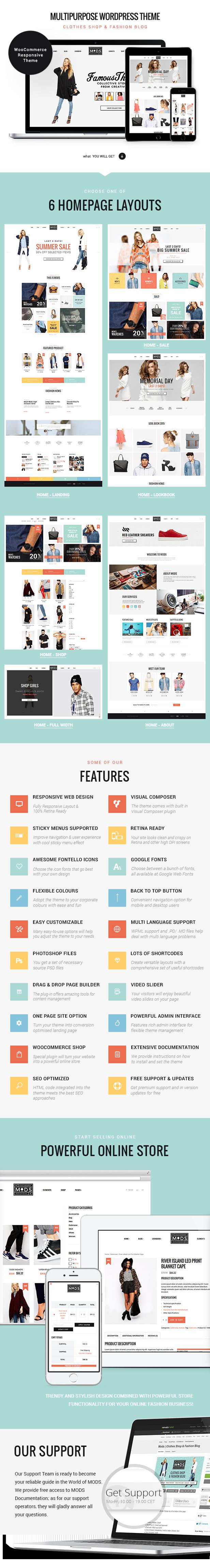 Mods | Eine stilvolle Kleidung Shop & Fashion Blog WordPress Vorlage