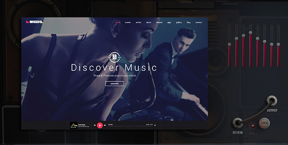 Muziq - Musikband & Musiker WordPress Template
