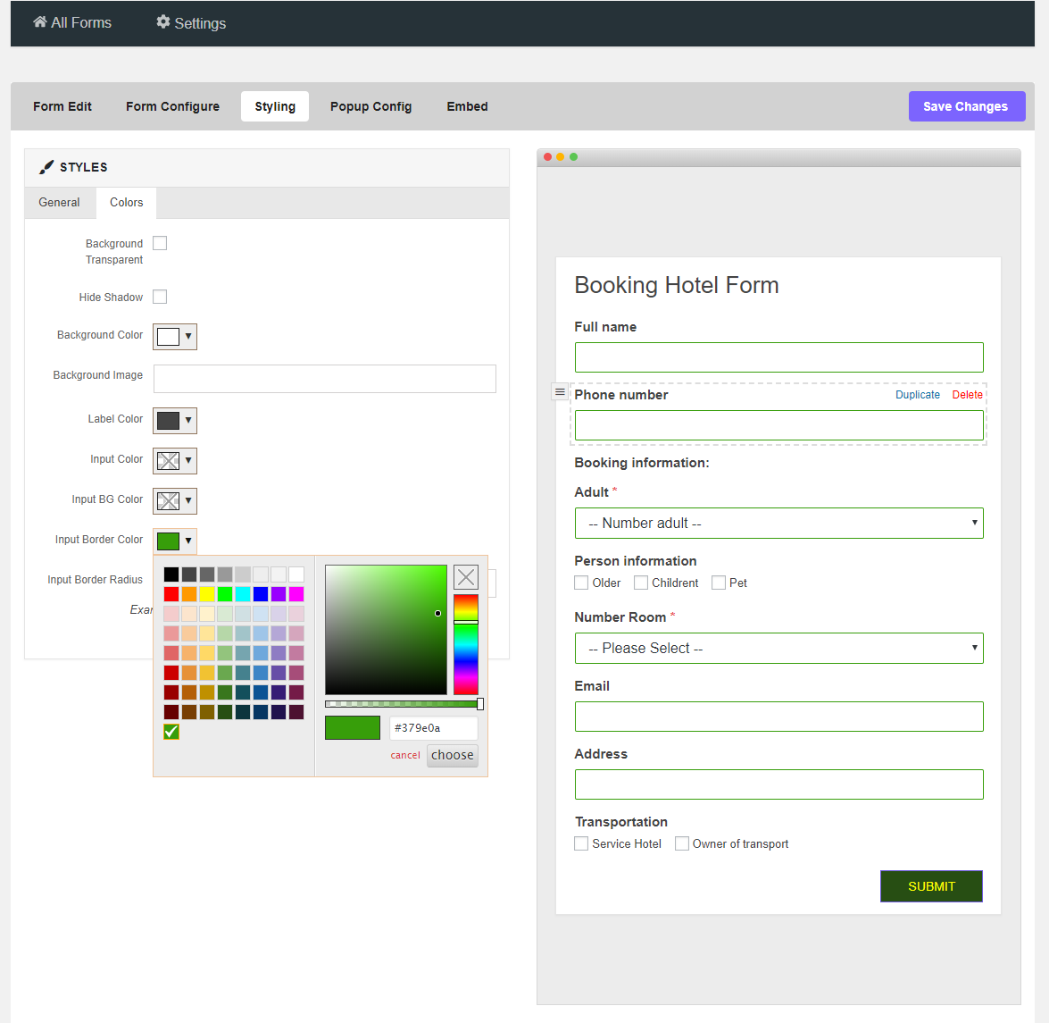 Tera Form - WordPress Kontaktformular Builder Plugin