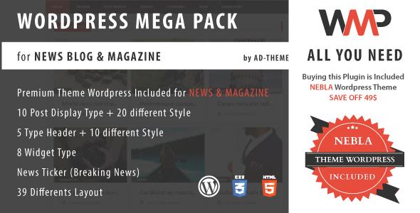 WP Mega Pack für Nachrichten, Blog und Magazine - Alles was du brauchst