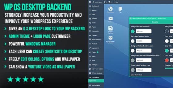 WP OS Desktop Backend – Mehr als ein WordPress Admin Template
