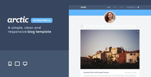 Arctic - Responsives, persönliches WordPress Layout