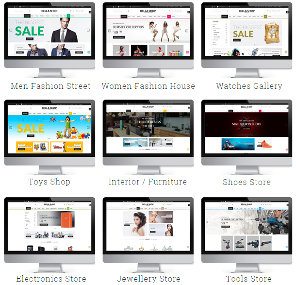 Bella - eCommerce Shop WordPress Layout