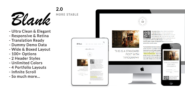 Elegantes Minimalistisches WordPress Blog Template