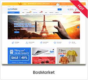 BosMarket - Flexibles Multi-Anbieter-WordPress-Template
