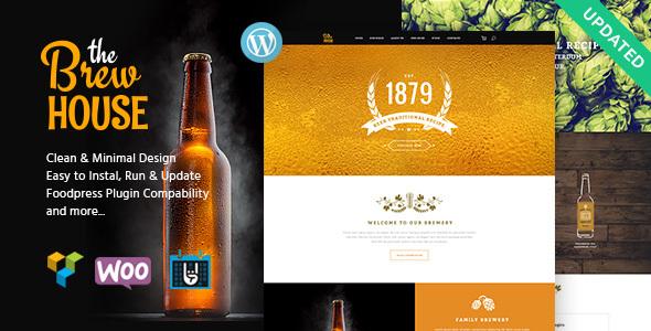 Das Brauhaus   Brauerei / Kneipe / Restaurant WordPress Vorlage