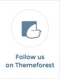 folge uns auf themeforest