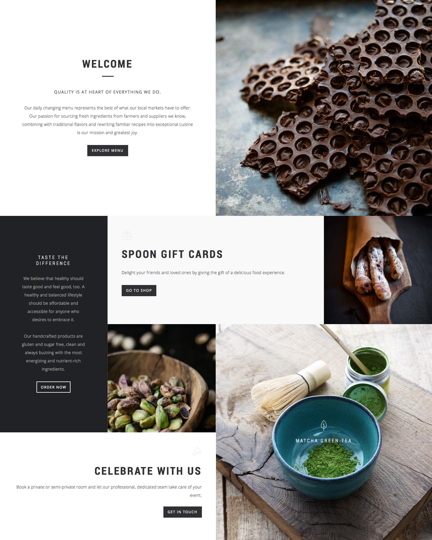 Löffel - ein Premium Responsive Restaurant WordPress Layout