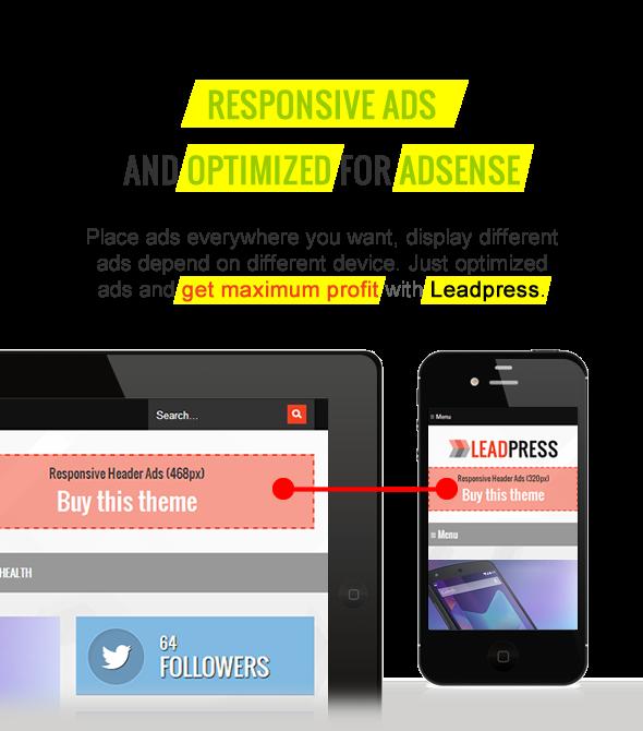 Responsive Ads - Maginess - Flexibles WordPress Template