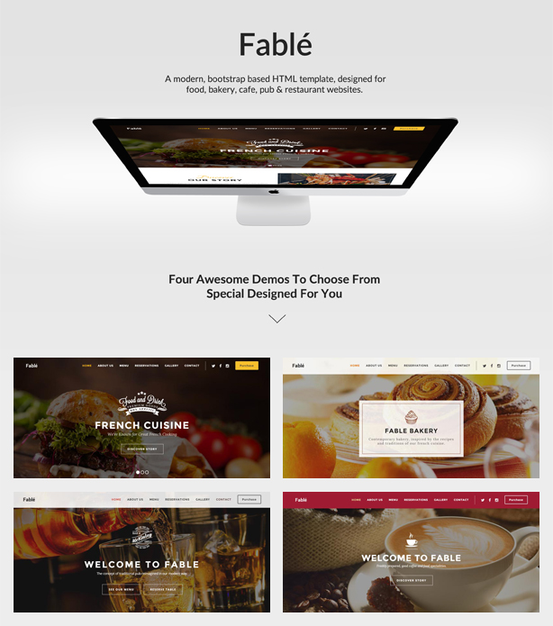 Restaurant, Bäckerei, Café, Pub WordPress Thema