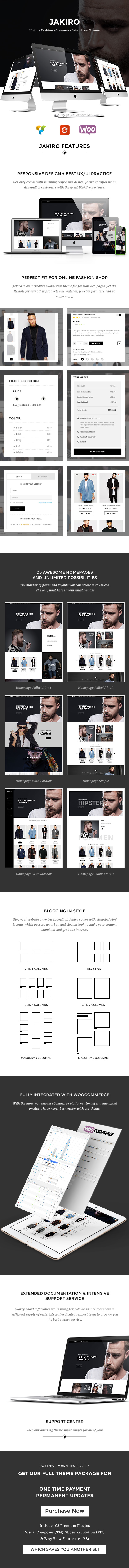 Jakiro - Einzigartiger Modeshop WordPress Layout