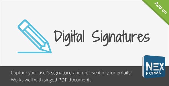 Digitale Signaturen für NEX-Formulare - CodeCanyon Artikel zum Verkauf