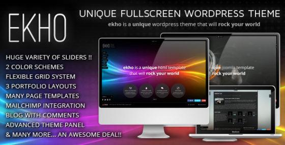Ekho - Einzigartiges responsives WordPress Template