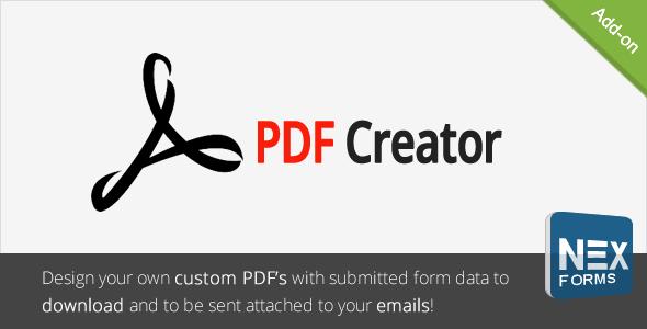 PDF Creator für NEX-Formulare - CodeCanyon Artikel zum Verkauf