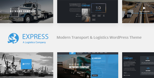 EXPRESS - Modernes Transport & Logistik WordPress Vorlage
