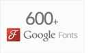 Über 600 Google Fonts